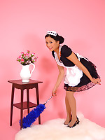 Charming maid Petra Lily So makes her cleaning duties for you as sexy as possible