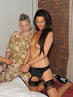 army boy gets nyloned